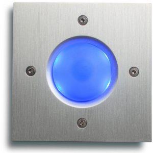 Ringeknapp med blått lys
