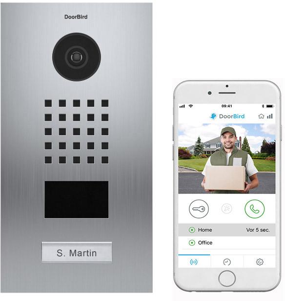 Doorbird D2101V med app