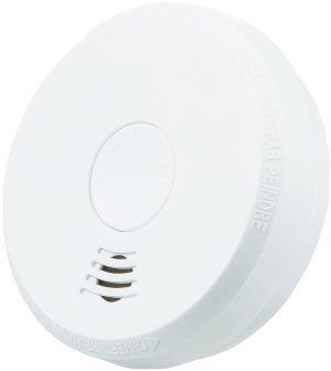 Trådløs seriekoblet røykvarsler med optisk og termisk sensor