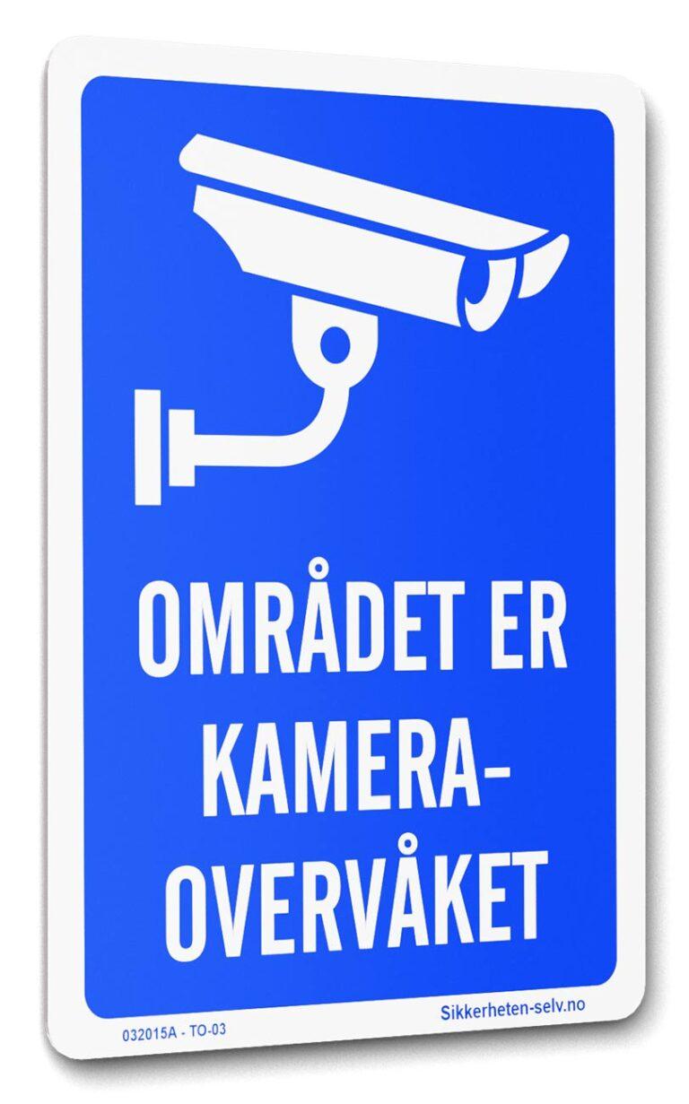 Kameraovervåkning skilt